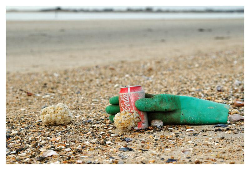 Pollution sur la plage